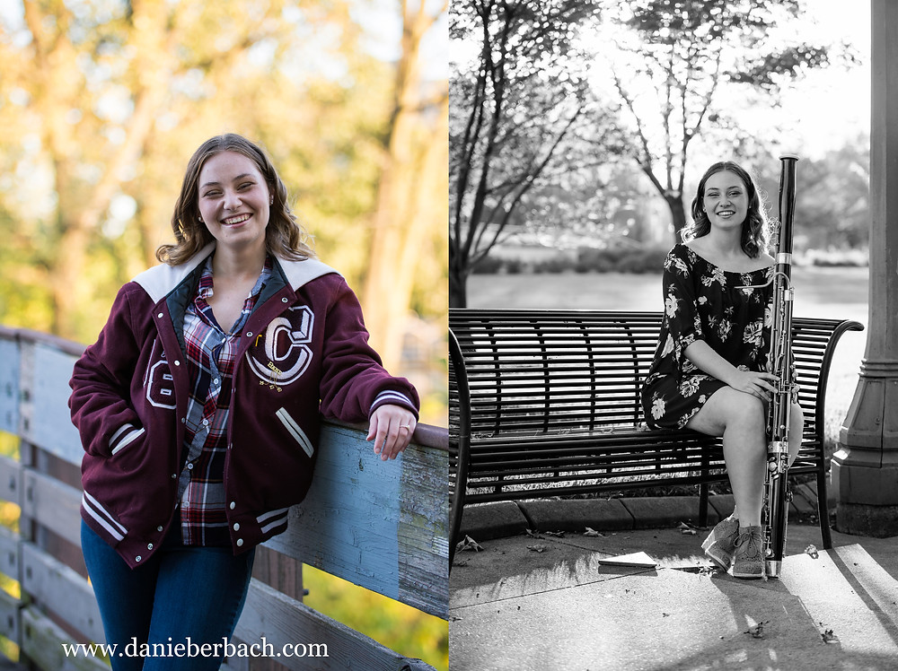 Senior girl portraits at Headwaters Park