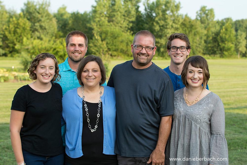 Summer family portrait in Fort Wayne