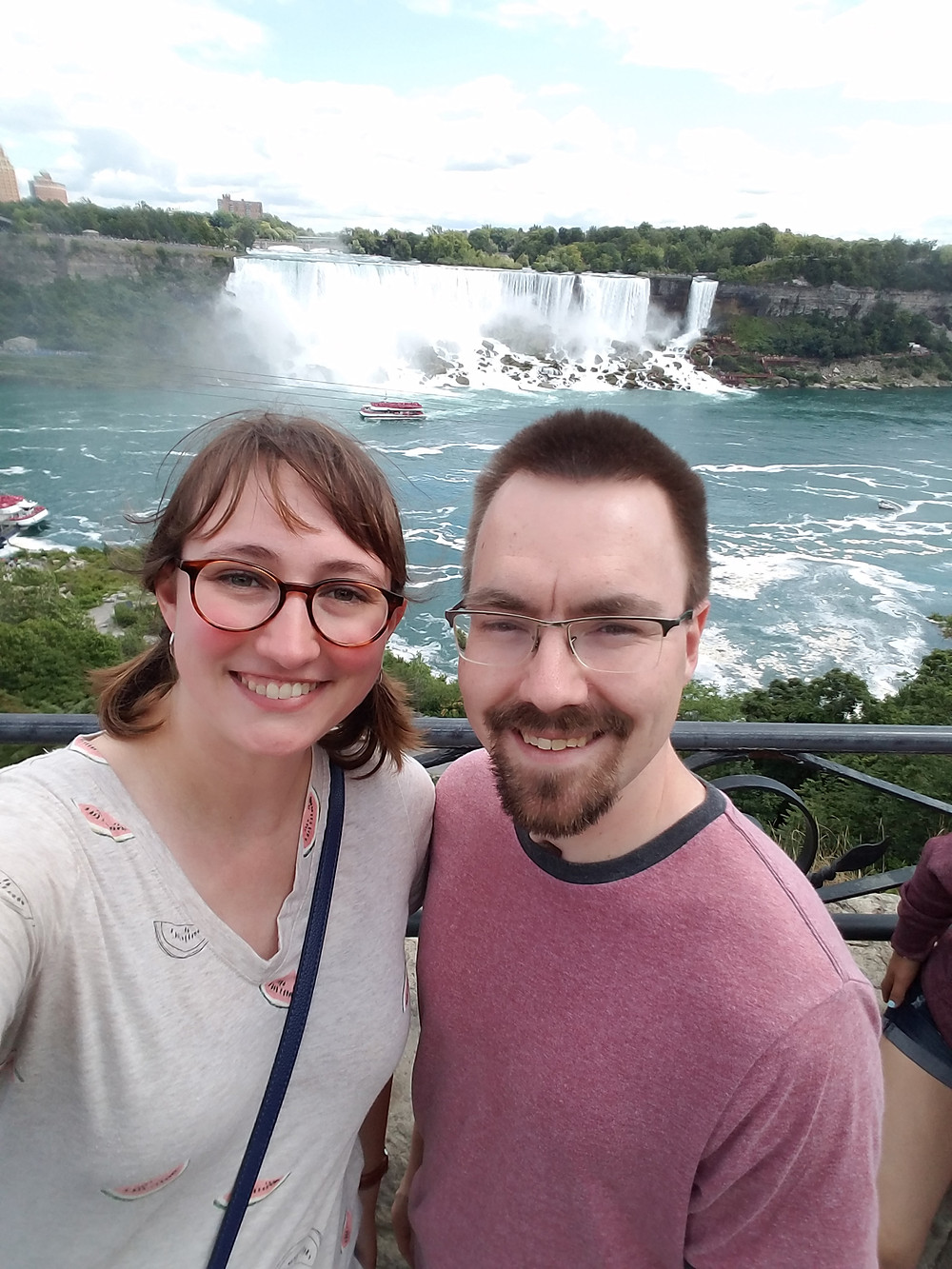 Selfie with American Falls at Niagara Falls