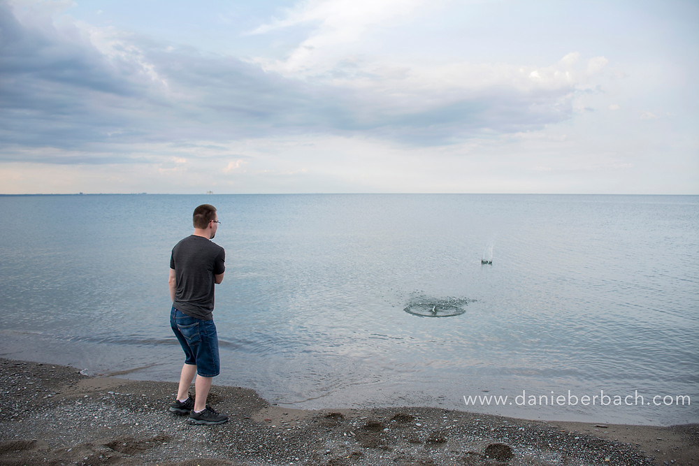 Skipping rocks in Lake Ontario
