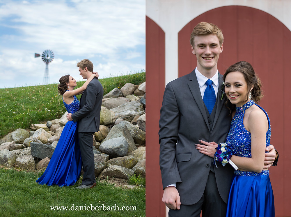 Prom pictures of a couple