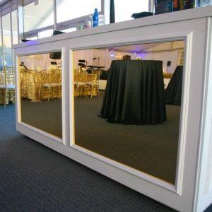 Dual Mirror White 8' Bar