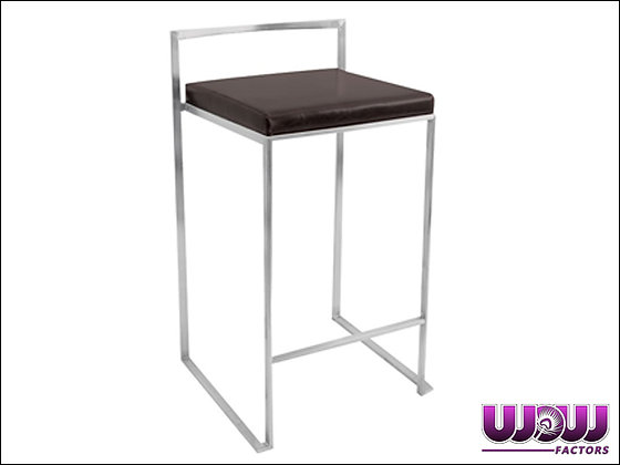 Stackable Black Bar Stool
