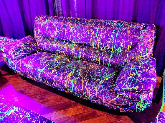 UV Splatter Paint Sofa