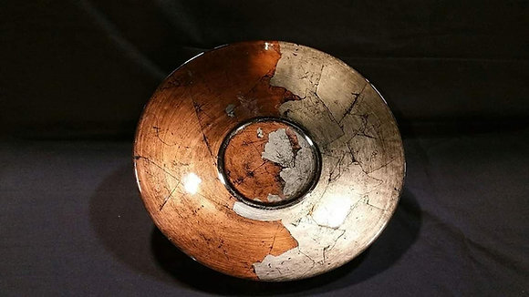 Antique Smoke & Copper Bowl