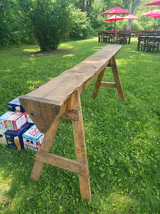 Rustic 8' Saw Horse Community Table