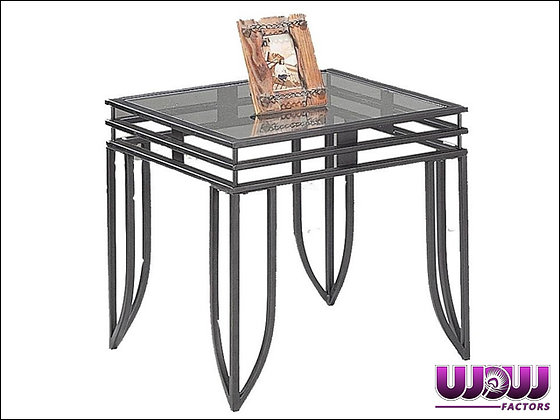 Matrix Steel & Glass End Table