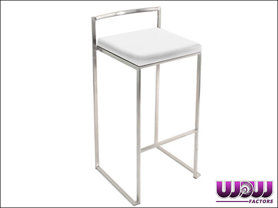 Stackable White Bar Stool