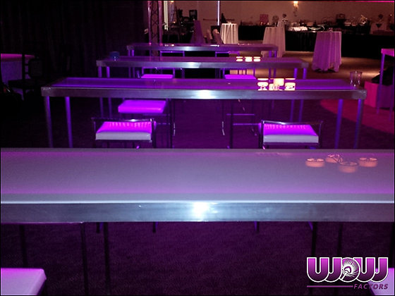 Frosted Acrylic Glow Community Table