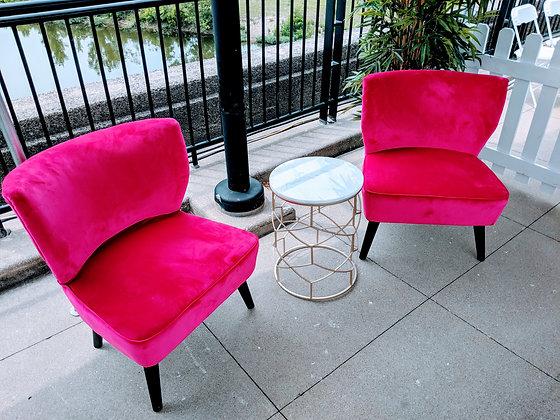 Pink Rose Modern Chair