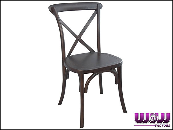Vineyard Fruitwood Cross Back Chair