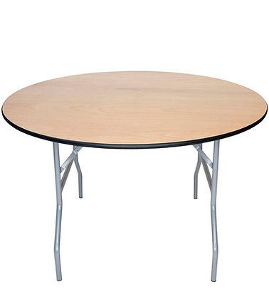 Round 6' Folding Wood Table