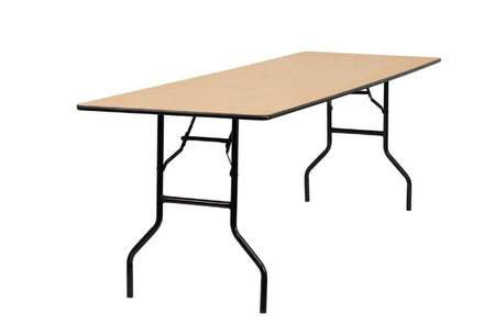 Rectangle 8' Folding Wood Table