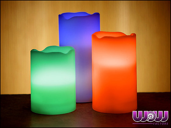 "Flameless LED Candles (4"", 5"", 6"")"