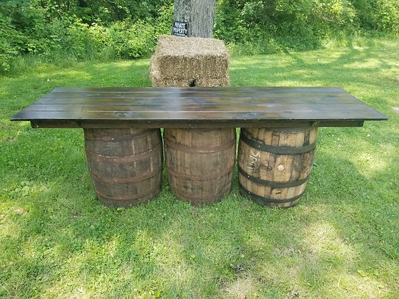 Whiskey Barrel 8' x 3' Table
