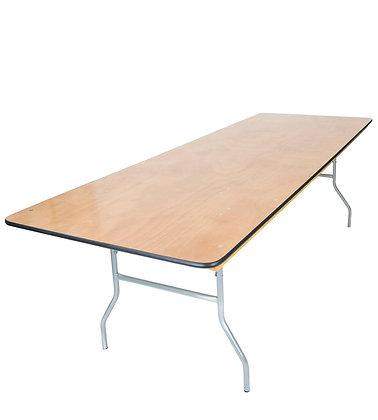Rectangle 10' Folding Wood Table