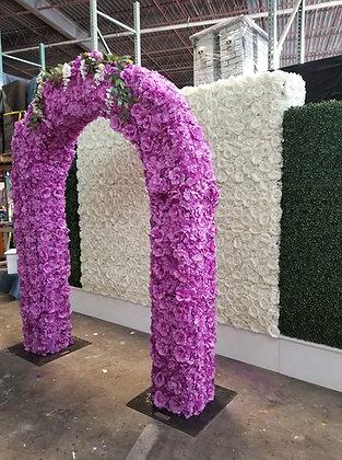 6' x 8' Lavender Silk Floral Arch