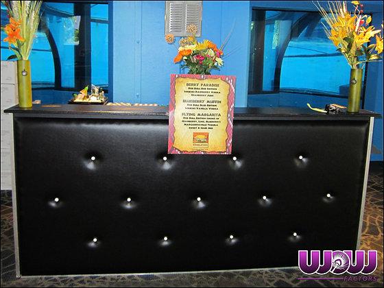 Button Tufted Black Bar