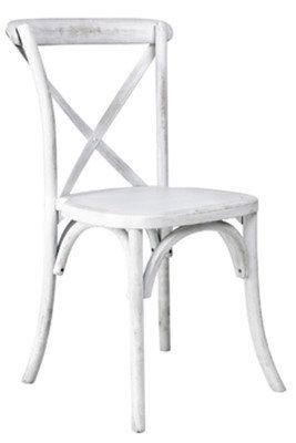 Vineyard White Wash Cross Back Chair