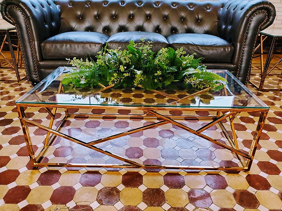 Nest Rose Gold Coffee Table