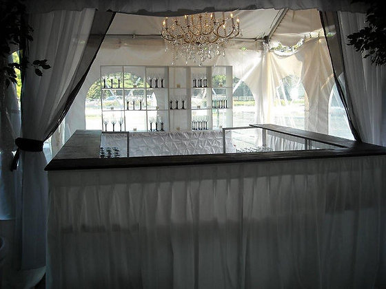 Pleated Fabric Bar