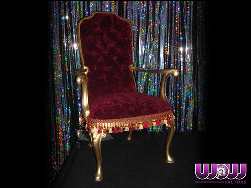 King U0026 Queen Chairs From Wow Factors Are A Great Accent Or Stage Prop For  Your Upcoming Event. The Gold Frame Accompanied By Lovely Velour Upholstery  And ...