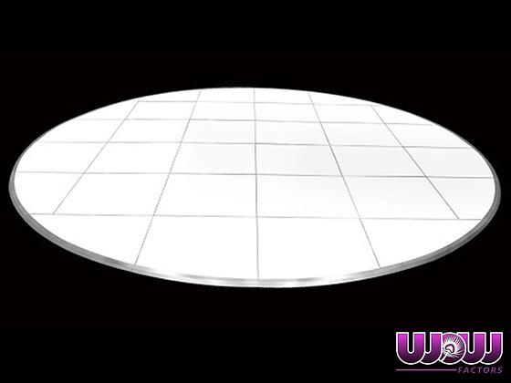 Round White Laminate Dance Floor