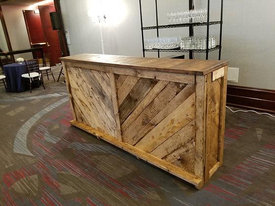 Wooden 8' Slat Bar