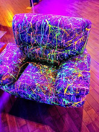 UV Splatter Paint Chair