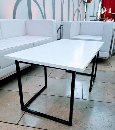 White Top L Leg Coffee Table
