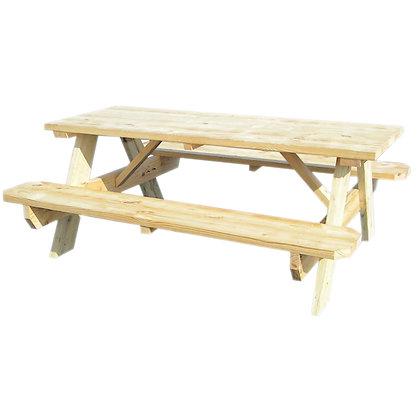 Yellow Pine 6' Picnic Table