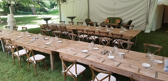 King Farm Table Pickled Brown 10' x 4'