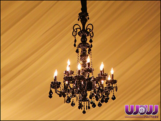 Jet Black Crystal Chandelier (15 Light)
