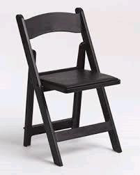 Padded Black Resin Folding Chairs