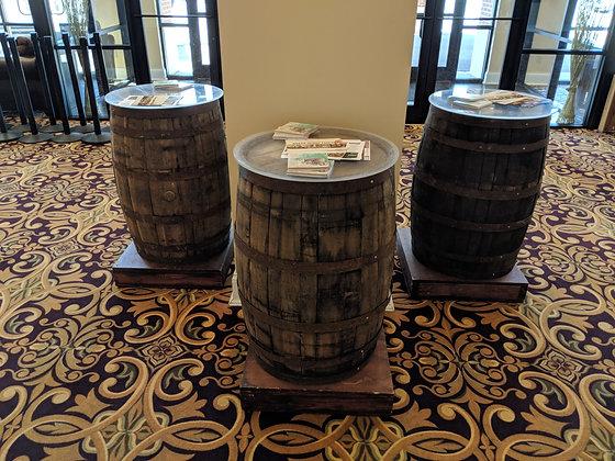 Bourbon Barrel Cocktail Tables