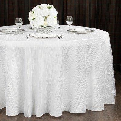 """90"""" x 132"""" White Crinkle Taffeta Linen"""