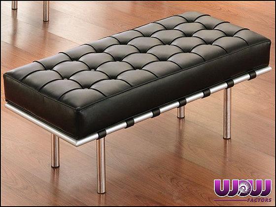 Modern Leather Bench (black)