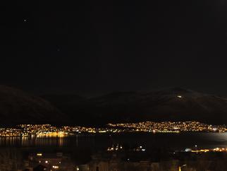 Vollmond über Tromsø
