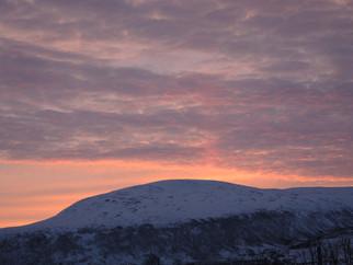 Sonnenaufgang über Bottenfjelet