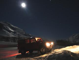 Nachts auf Kvaløya