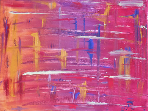 """""""Red and Yellow Abstract"""" by Andrew Armas"""
