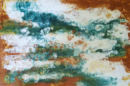 """""""Abstract in Brown and Blue"""" by Renee D Nelson"""