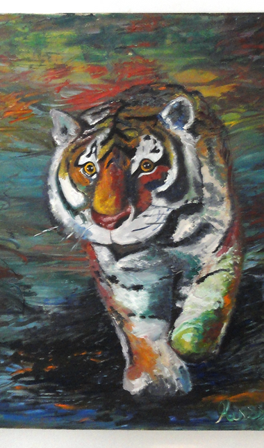"""Roaming Tiger"" by Missy Buetow"