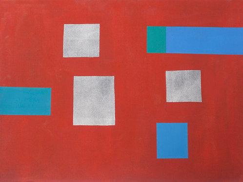 """""""Red Maze #2"""" by Carolyn Conrad"""