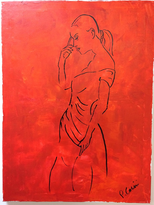 """Thinker in Red"" by Peter Casini"