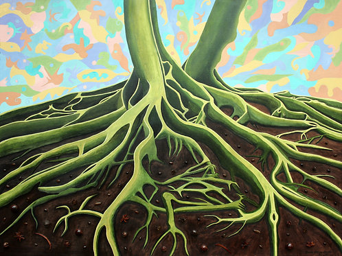 """""""Green Roots"""" by Oenone Hammersley"""