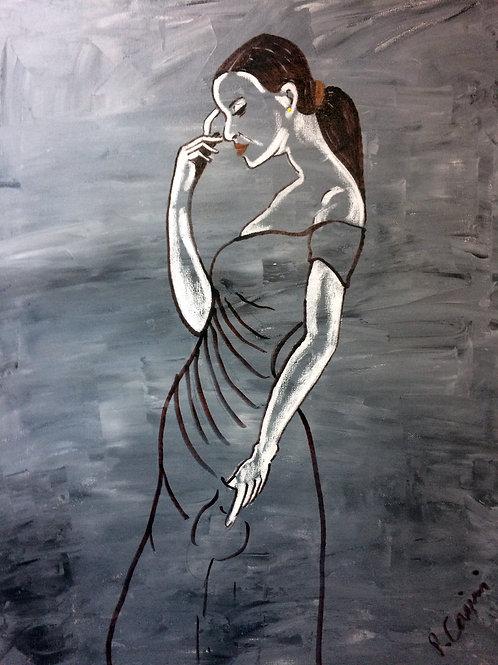 """""""Thinker in Black"""" by Peter Casini"""