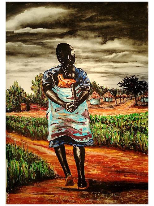 """U huma kwini ....where do you come from"" by Fumani Walter Maluleke"