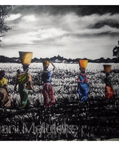 """""""Ku khidzimbela ka dyambu ......sun set"""" by Fumani Walter Maluleke"""
