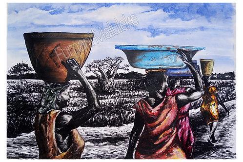 """Ku tirha I Ku tiyimisela.....working with dedication"" by Fumani Walter Maluleke"